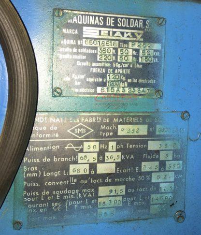 Maquina de soldadura por puntos Sciaky P252